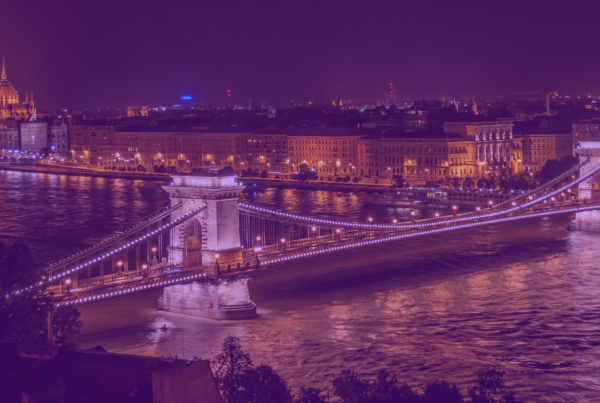 """Széchenyi Chain Bridge in Budapest at night"" Photo is in the public domain. No citation required"