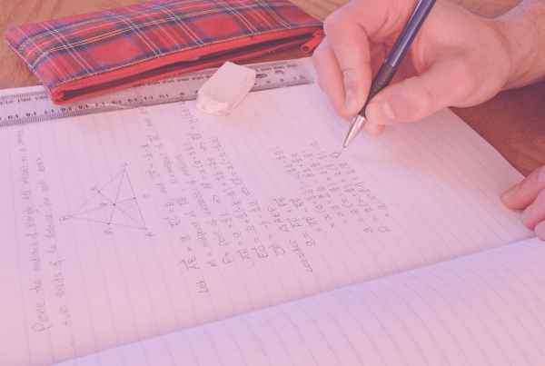 "Photo: ""Homework - vector maths"", by Fir0002/Flagstaffotos licensed under CC BY-NC 3.0. Hue modified from the original"