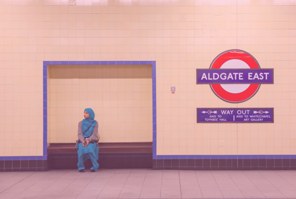 "Photo: ""Aldgate east"" by Roberto Trombetta licensed under CC BY-NC 2.0. Hue modified from the original"
