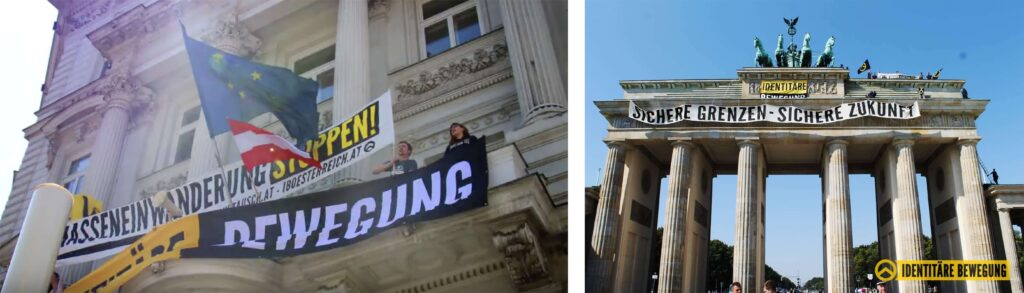 Actions by Identitarians in Vienna (2015) and Berlin (2018)