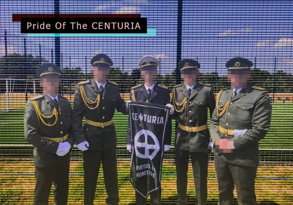 73 Image from Centuria's June 2021 Telegram post. The photo used in the post was taken at the IPSC, where the NAA's officer cadets graduation ceremony took place on June 19,