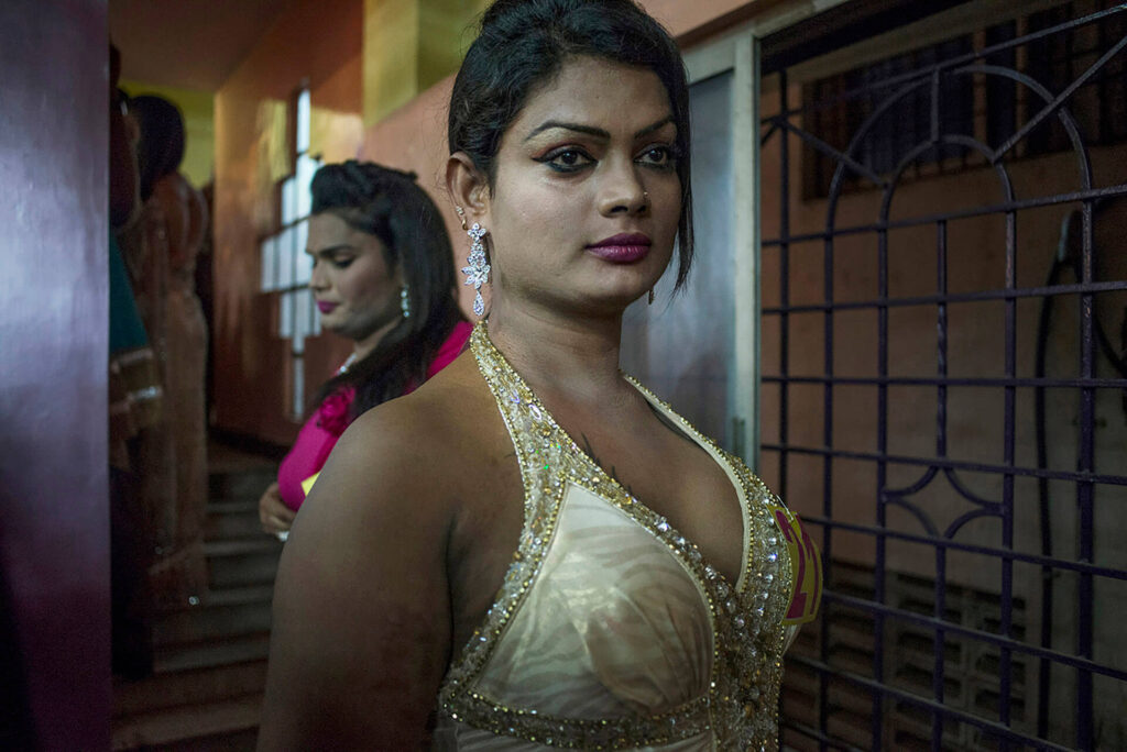 Contestants in a transgender beauty pageant during the annual festival in Koovagam